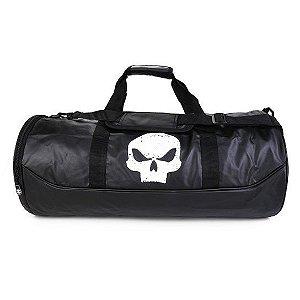 Bolsa Sacola Viagem Black Skull Clio Branco - BS2196