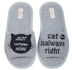 Pantufa Cat Aberta 37/38 Cotton Day - 10402