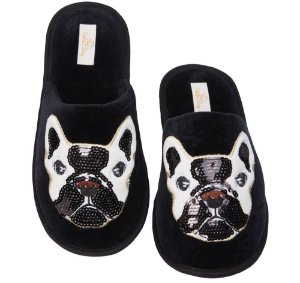 Pantufa Bulldog com Lantejoula 39/40 Cotton Day - 16008