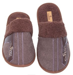 Pantufa Plush Buckle com Malha Polar 37/38 Cotton Day - 17101