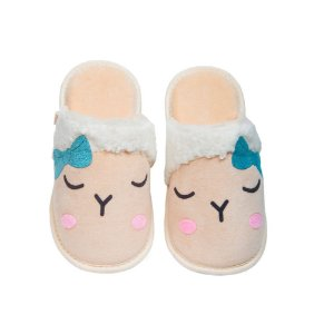 Pantufa Ovelha Aplique G 39/40 Cotton Day - 18505