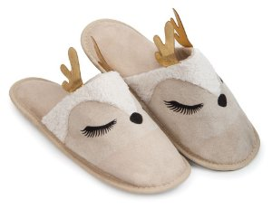 Pantufa Alce Aplique M 37/38 Cotton Day - 18508