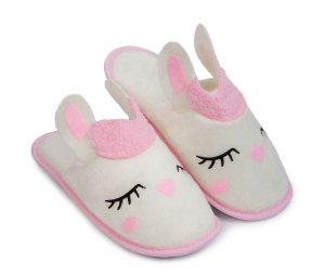 Pantufa Lhama Aplique G 39/40 Cotton Day - 18509