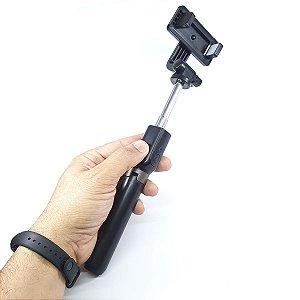 Pau de Selfie Bluetooth com Rotação e Tripé Tomate - MZP-109