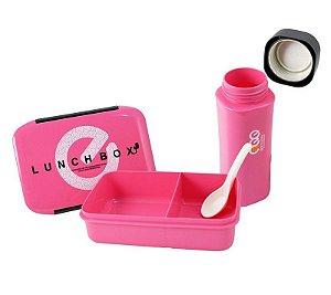 Conjunto Marmita com 2 Peças Pote + Garrafa Lifestyle Jacki Design - AWM17153 Cor:Pink