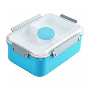 Pote para Marmita com 3 Compartimentos + Pote para Molho 1400ml Jacki Design AWM17223 Cor:Azul