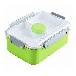 Pote para Marmita com 3 Compartimentos + Pote para Molho 1400ml Jacki Design AWM17223 Cor:Verde
