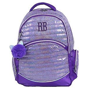 Mochila Glitter Roxo Rebecca Bonbon - RB2087