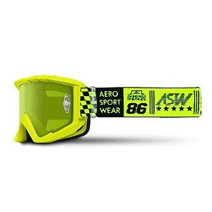 Óculos ASW A3 Glory Amarelo Fluor