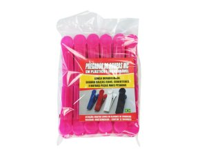 Pregador de Roupas Plástico C/12 unidades Pink