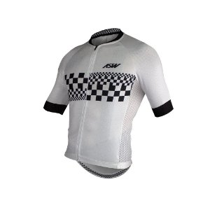 Camisa ASW ACTIVE CHECKER Branco Preto GG