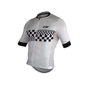 Camisa ASW ACTIVE CHECKER Branco Preto M