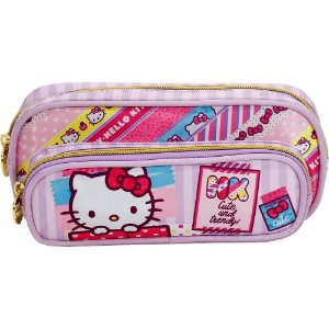 Estojo Infantil Duplo Hello Kitty Washi Pink - 7885