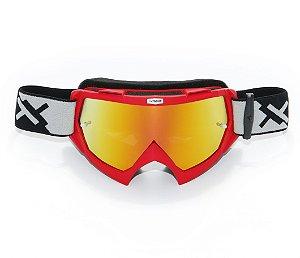 Óculos Mattos Racing Combat Espelhado Vermelho