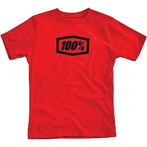 Camiseta 100% Essential Vermelho Tam. P