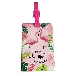 Tag Identificador de Bagagem - YS27062  Flamingo