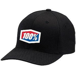 Boné 100% Icon Flex - Preto