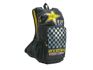 Mochila FLY Jump Rockstar Preto/Amarelo
