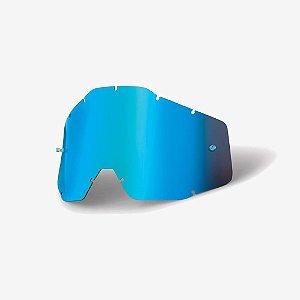Lente 100% Antiembaçante Espelhado Azul