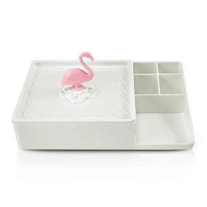 Organizador Multiuso Flamingo Jacki Design - AHX20907 Branco
