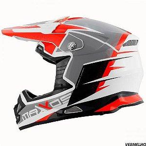 Capacete Mattos Racing MX Pro MTTR Vermelho 58
