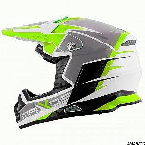Capacete Mattos Racing MX Pro MTTR Amarelo Fluor 58