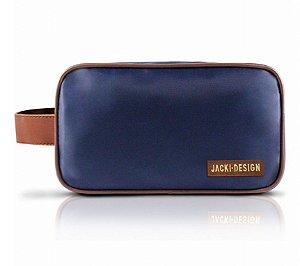 Necessaire com Alça For Men Jacki Design - AHL17209 Cor:Azul/Marrom