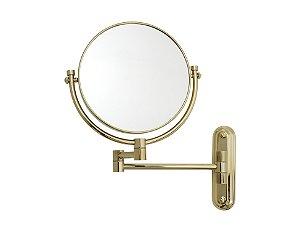 Espelho de Aumento Dupla Face para Parede Panther MC171 8' Polegadas 5x Dourado