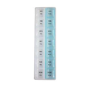 Porta Comprimidos Semanal Dia e Noite Com 14 Divisórias - CA12191