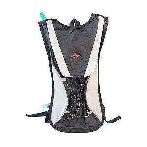 Mochila de Hidratação com Bolsa Refil 2 Litros - LL82080 Cinza
