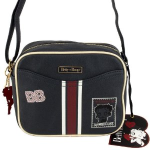 Bolsa Transversal Navy Preto Betty Boop Semax - BP7904