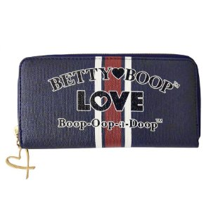 Carteira Feminina Navy Azul Betty Boop - BP7924