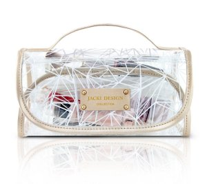 Necessaire Rocambole Crystal Branco Jacki Design - ABC17188