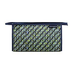 Necessaire Envelope City Verde Zigzag Jacki Design - AHL17563