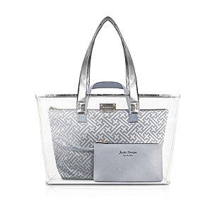 Kit de Bolsa com 3 Peças Diamantes Prata Jacki Design - ABC17382