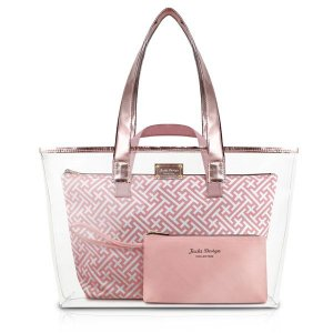 Kit de Bolsa com 3 Peças Diamantes Rosa Jacki Design - ABC17382