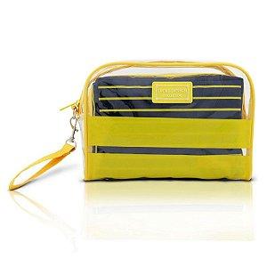 Kit de Necessaire com 2 Peças Felicità AHL15072 Jacki Design Cor:Amarelo
