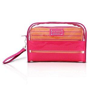 Kit de Necessaire com 2 Peças Felicità AHL15072 Jacki Design Cor:Pink