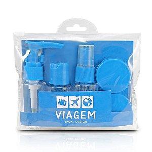 Kit de Frascos para Viagem 7 Peças Celeste Jacki Design - AKM20903