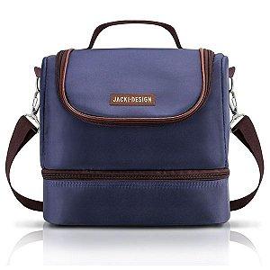 Bolsa Térmica com 2 Compartimentos (For Men) Jacki Design - AHL17377 Cor:Azul/Marrom