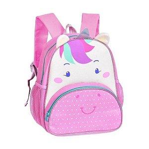 Mochila Infantil Escolar Unicórnio Rosa CLIO Pets CP2205P