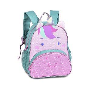 Mochila Infantil Escolar Unicórnio Verde CLIO Pets CP2205P