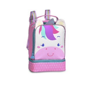 Lancheira Escolar Infantil CLIO Unicórnio Rosa CP2206L