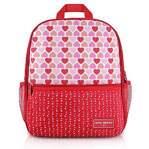 Mochila Escolar Sapeka Jacki Design Coração Vermelho - AHL17522