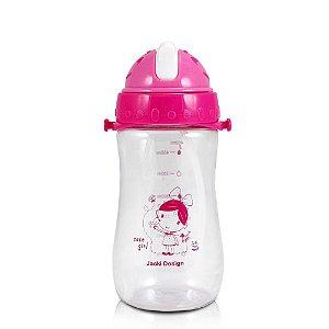 Garrafa Squeeze 480ml Pequeninos Jacki Design Passarinho Pink - ATB17335