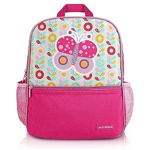 Mochila Escolar Pequeninos Jacki Design Borboleta Pink - AHL17270