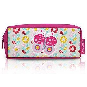 Estojo Necessaire Pequeninos Jacki Design Borboleta Pink - AHL17272