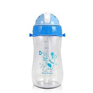Garrafa Squeeze 480ml Pequeninos Dino Azul Jacki Design - ATB17390