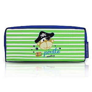 Estojo Escolar Pequeninos Macaco Pirata Jacki Design - AHL17267