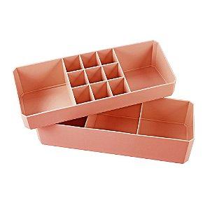 Organizador Multiuso de 2 Peças Loft Salmão Jacki Design - AGD20925